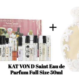 Edit: Sephora Favorites Perfume Sampler Set + Full Size KAT VON D Saint Eau de Parfum